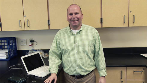 Kevin English, BCSN's Teacher of Month for January, has taught at Perrysburg for 18 years.