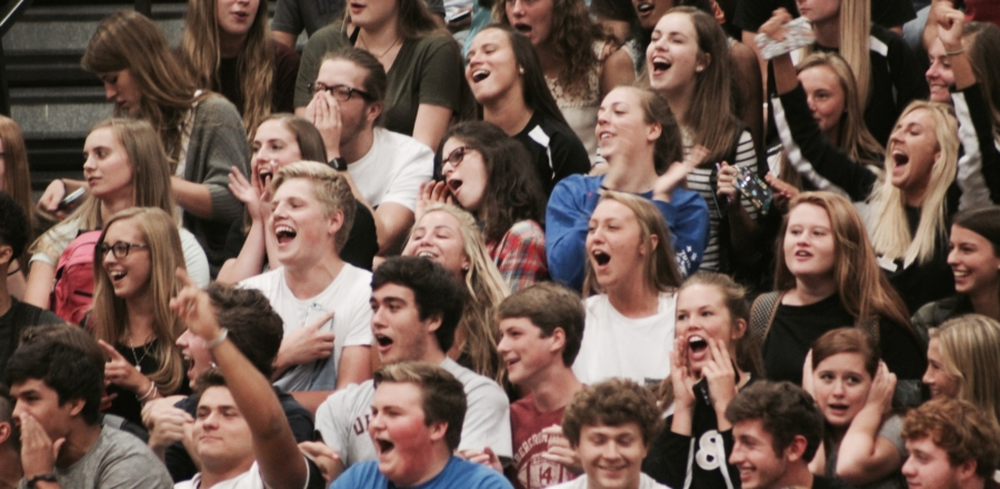 The pep rally in pictures